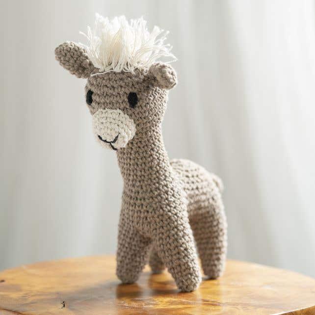 DIY Crochet Kit Llama Laurie Eco Barbante
