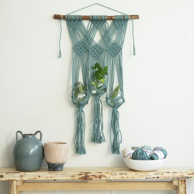 DIY Macramé Pattern Planthanger Tonara