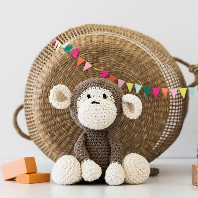 DIY Crochet Kit Monkey Mace
