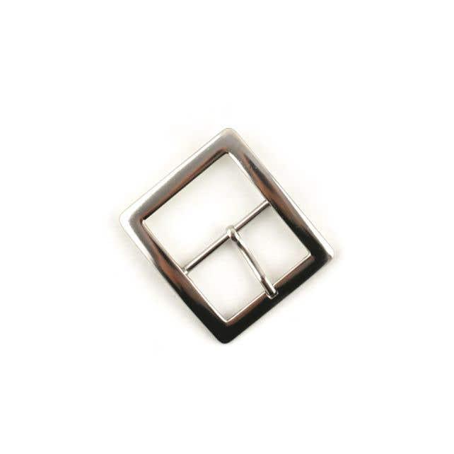 Siergesp zilver vierkant
