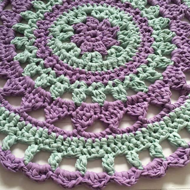 DIY Free Crochet Pattern Mandala Rug MaritParit