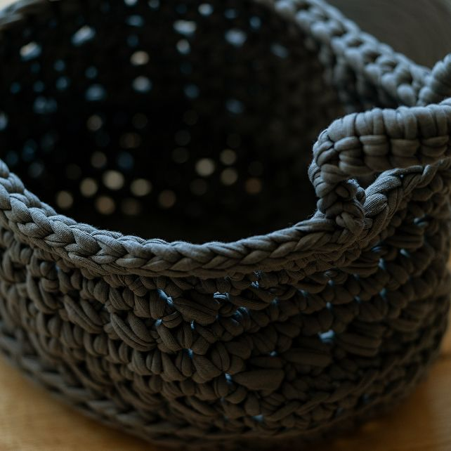 DIY Crochet Kit Revisto Basket Antracite