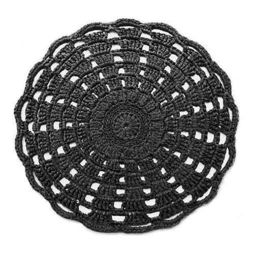 DIY Häkelset RibbonXL Mandala Teppich Charcoal Anthracite