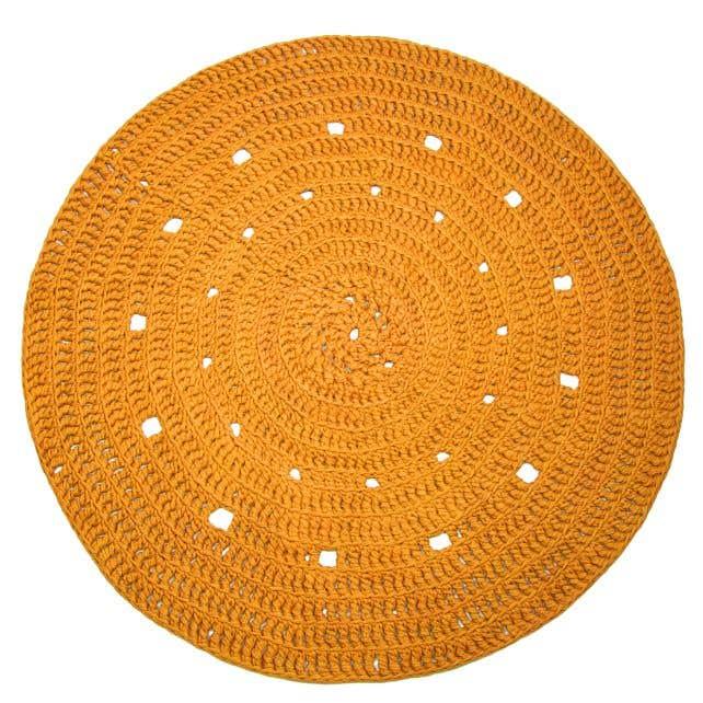 DIY Kit Crochet Round Rug Zpagetti Yellow