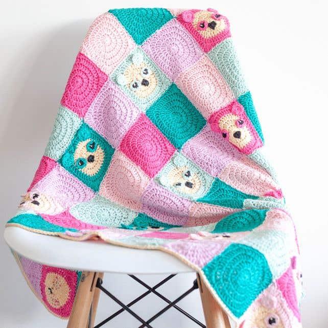 DIY Crochet Pattern Panda Blanket Como