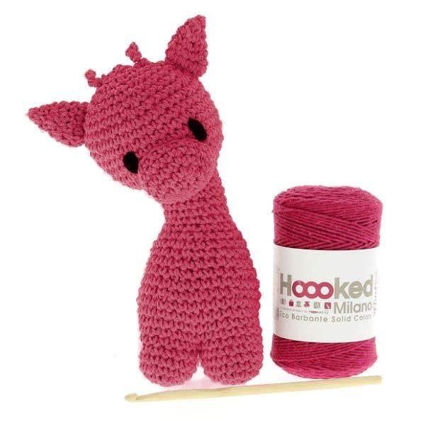 DIY Crochet Kit Giraffe Eco Barbante Punch