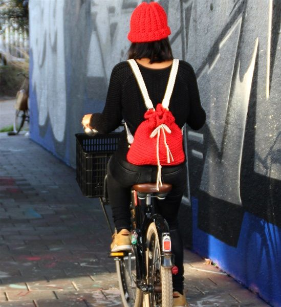 DIY Haakpatroon Brooklyn Red Backpack