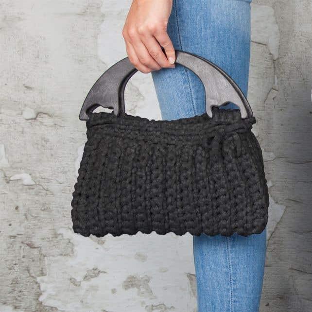 DIY Crochet Kit Zpagetti bag Milano Anthracite