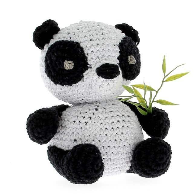 DIY Crochet Pattern Panda Yin Eco Barbante