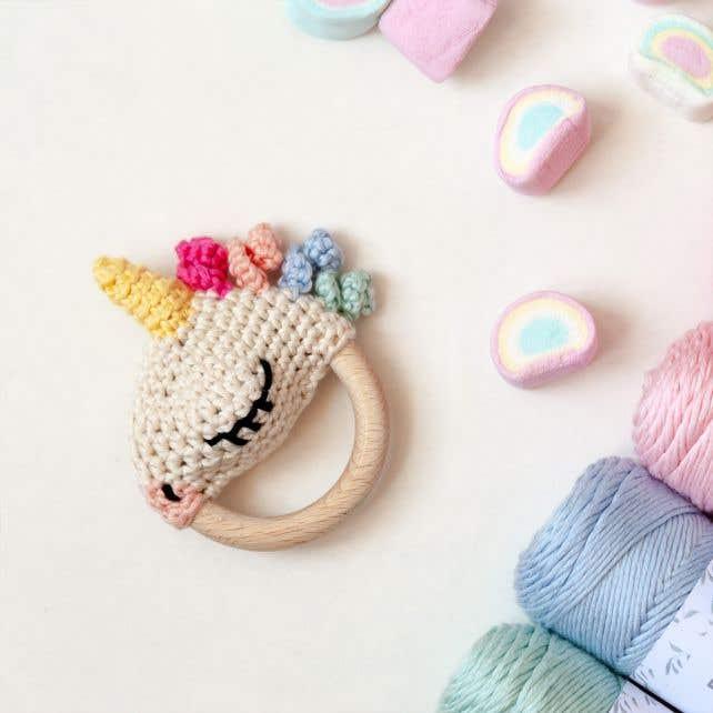 DIY Crochet Pattern Unicorn Rattle Ellie