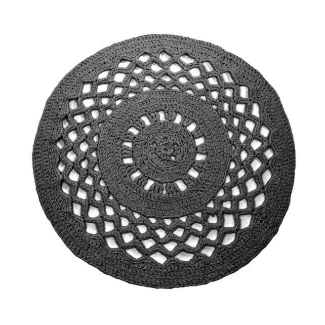 DIY Set Crochet Round Rug RibbonXL Stone Grey
