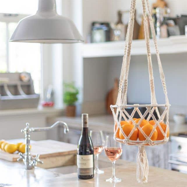 DIY Macramé Patroon Hanging Basket Capri
