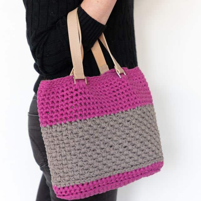 DIY Haakpakket Valencia Bag RibbonXL Crazy Plum