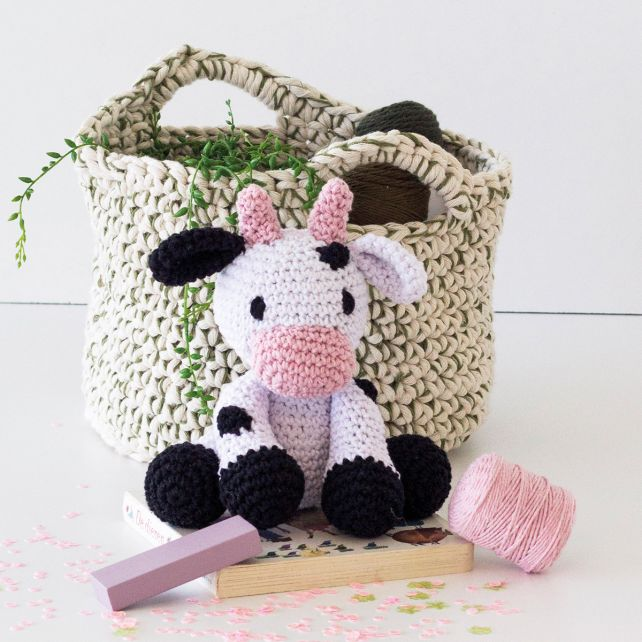 DIY Crochet Kit Cow Kirby