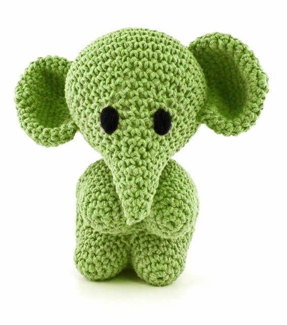 DIY Crochet Set Elephant Eco Barbante Lima Green