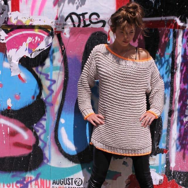 DIY Free Knitting Pattern RibbonXL Chill-Out Sweater