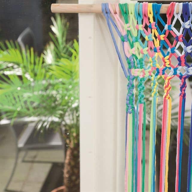 DIY Macramé Muster Sommerlicher Vorhang Bahia