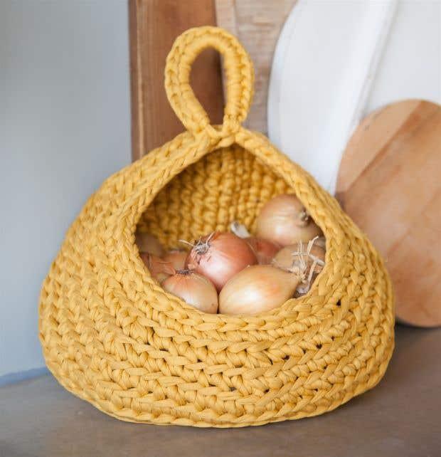 DIY Crochet Kit Storage Bag Ocre