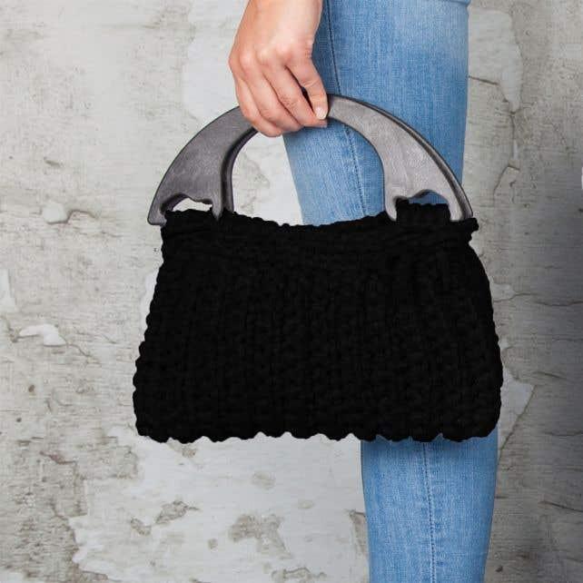 DIY Häkelset Zpagetti Tasche Milano Black