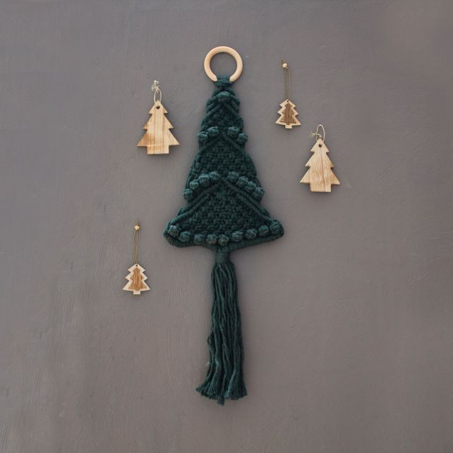 DIY Macramé Pakket Kerstboom Hanger Pine