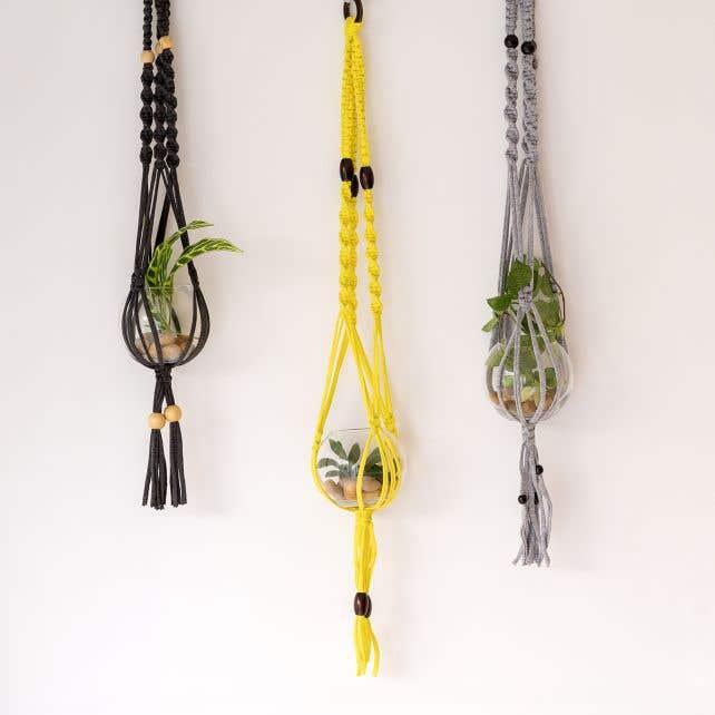 DIY Pattern Macramé Hanging Basket Zpagetti