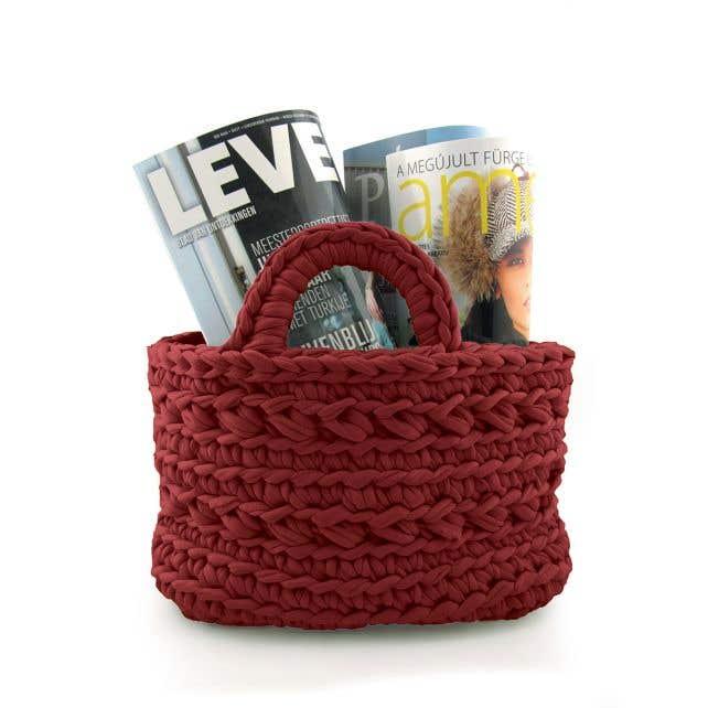 DIY Crochet Kit Revisto Basket Marsala Bordeaux