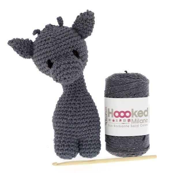 DIY Crochet Kit Giraffe Eco Barbante Lava