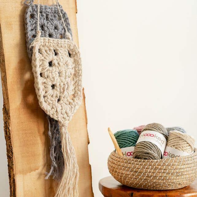 DIY Crochet Pattern Wallhanger Elx Jute