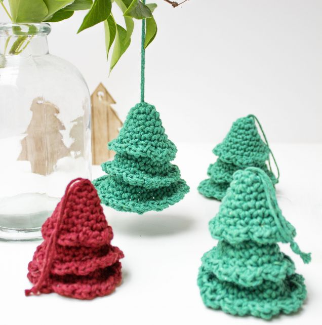 DIY Crochet Pattern Christmas Tree Hangers