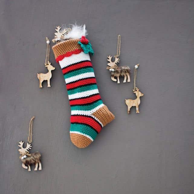 DIY Crochet Pattern Christmas Stocking