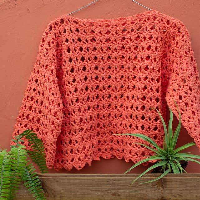 DIY Patron de ganchillo para suéter Crete