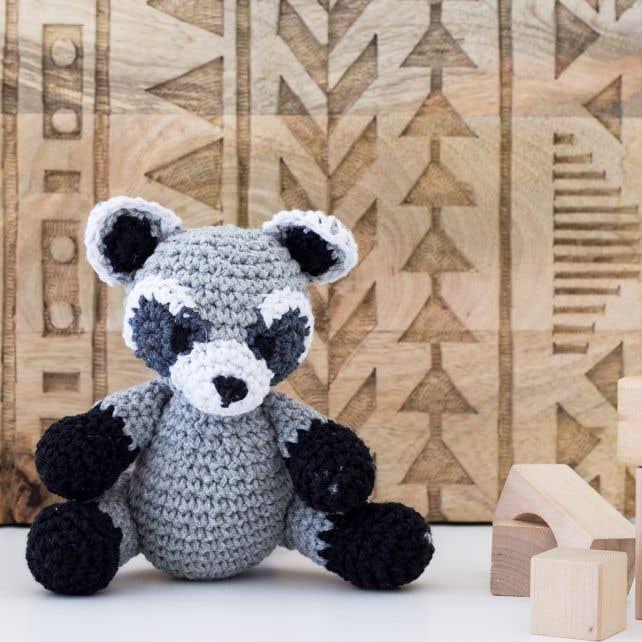 DIY Crochet Pattern Raccoon Ricky