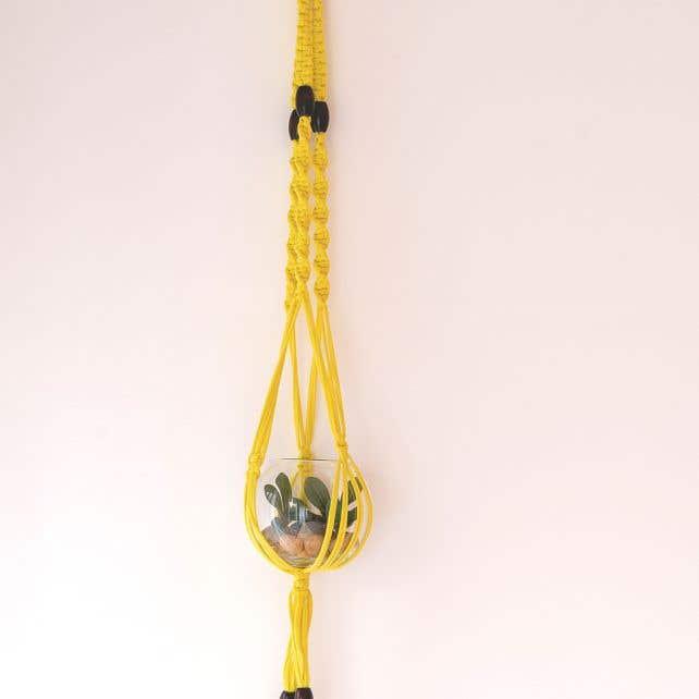 Kit DIY Cesta de Colgar Macramé Zpagetti Lemon Yellow