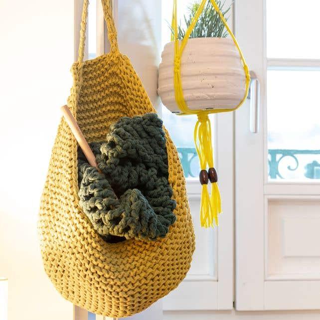 DIY Knitting Kit Basket Gaby