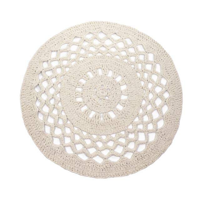 DIY Set Crochet Round Rug RibbonXL Sandy Ecru