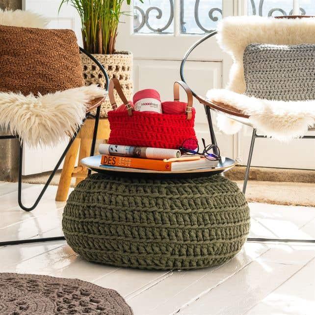 Crochet Pattern Zpagetti Pouf