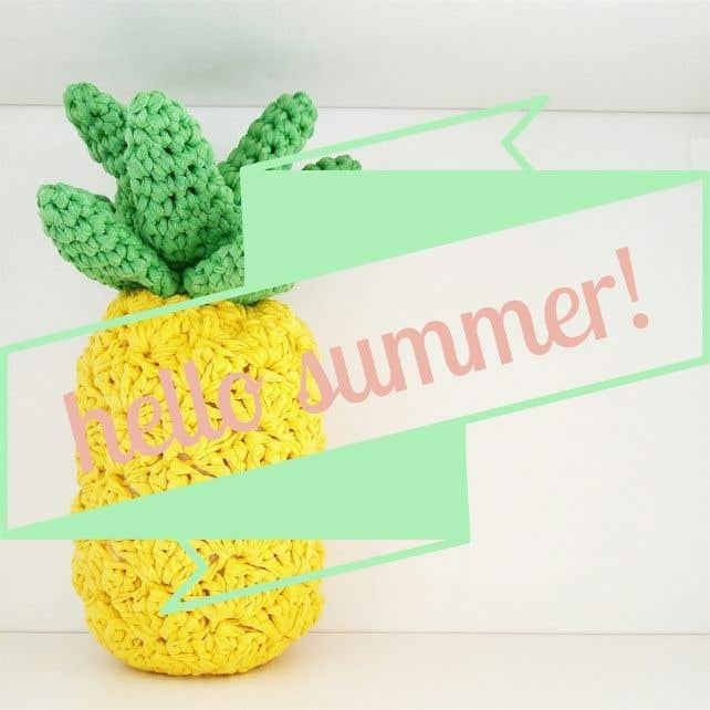 DIY Crochet Kit Funky Pineapple