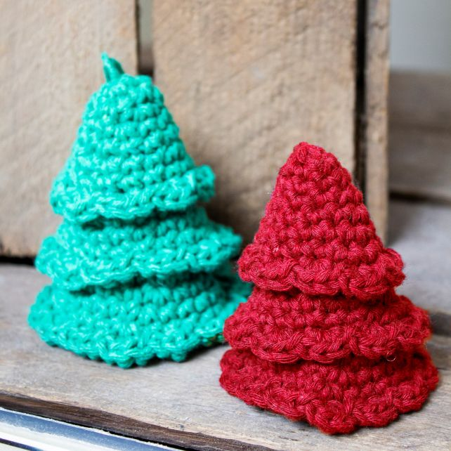 DIY Crochet Kit Christmas Tree Hangers