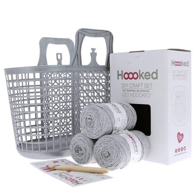 DIY Crochet Kit Shopper Silver Grey