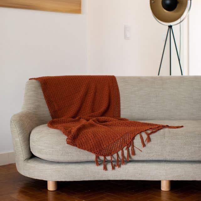 DIY Crochet Kit Cipressa Boho Throw Blanket Zucca