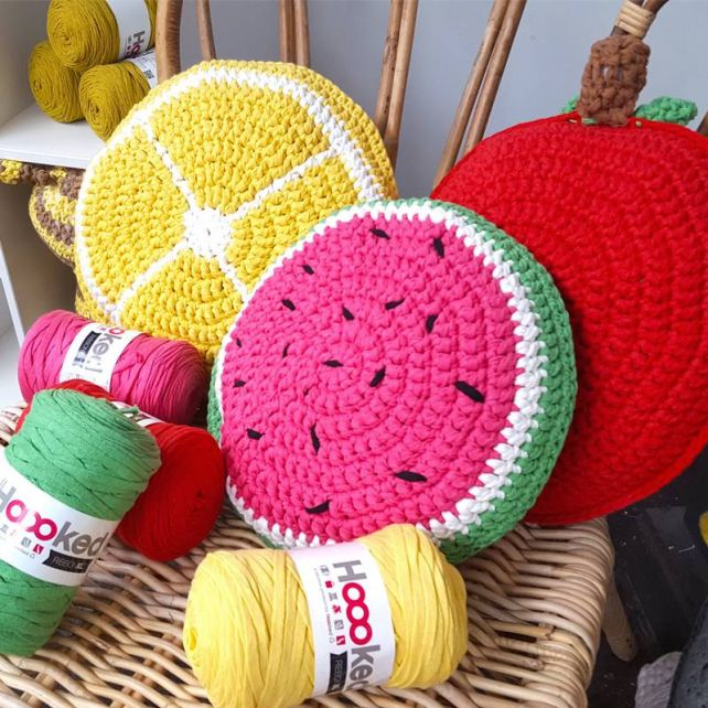 DIY Gratis Haakpatroon Fruitige Kussens RibbonXL
