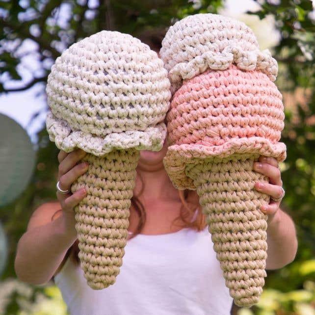 DIY Crochet Pattern Straciatella Ice Cream Cone Zpagetti