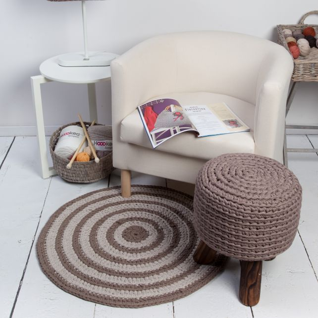 DIY Free Crochet Pattern Round Rug Zpagetti