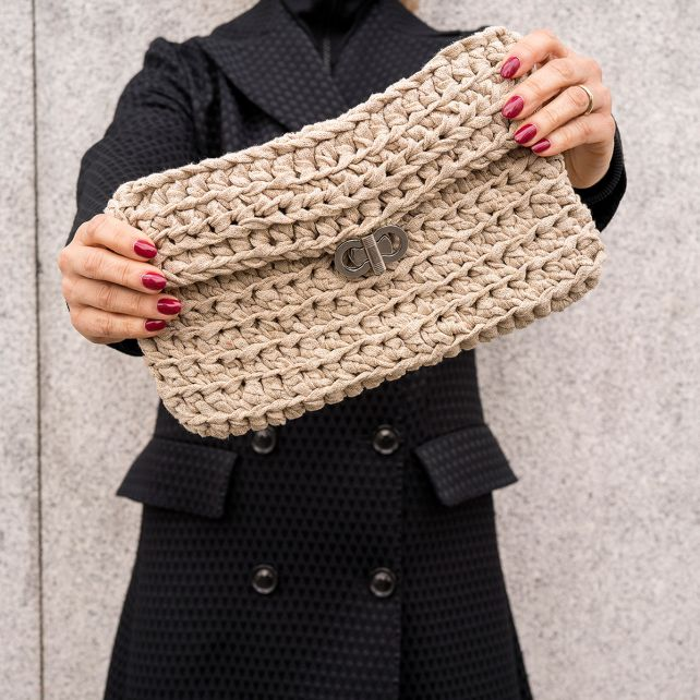 DIY Crochet Kit Clutch Charly Golden Dust