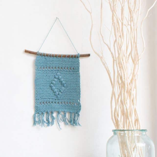 DIY Crochet pattern wallhanger Malmo