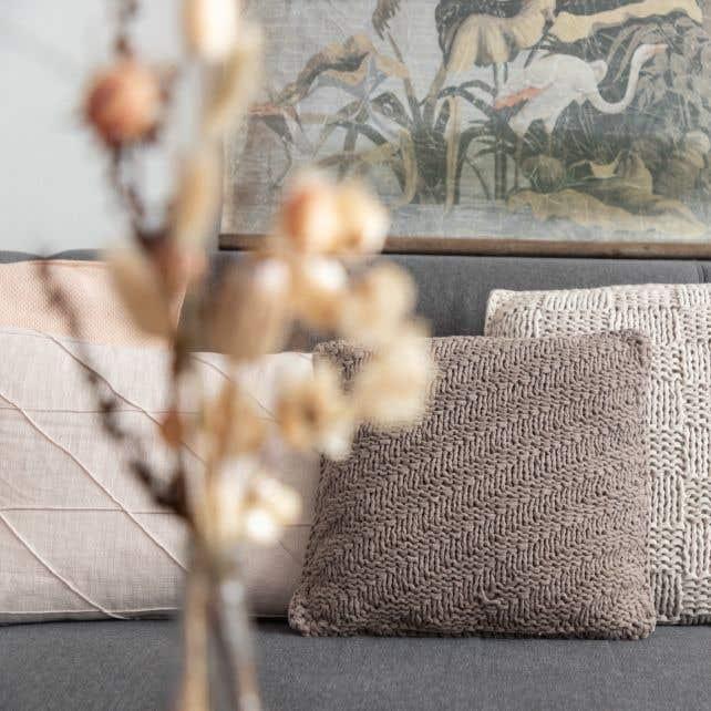 DIY Knitting Kit Cushion Bulky Textures Earth Taupe