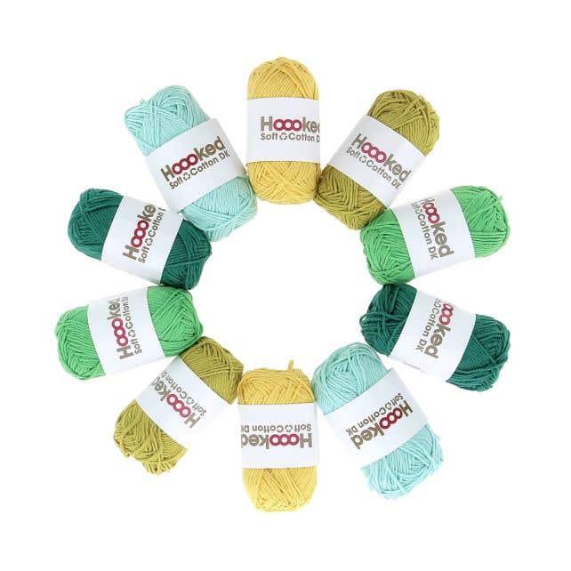 Soft Cotton DK Yarn Pack Amazone Leafs