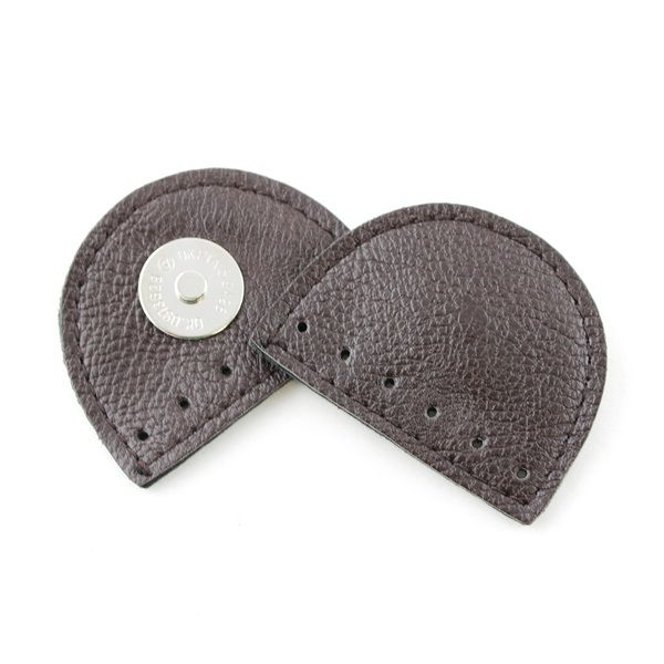 Leather Magnetic Bag Lock Brown