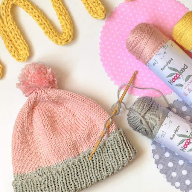 DIY Kostenlose Strickanleitung Babymütze Scilla