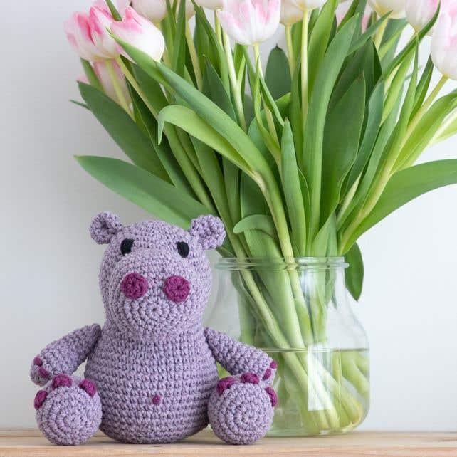 DIY Crochet Kit Hippo Hugo